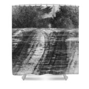 Abstract Winter Storm Shower Curtain