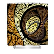 Abstract Wood Grain Shower Curtain