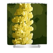 Abstract Yellow Lupine Shower Curtain