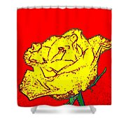 Abstract Yellow Rose Shower Curtain