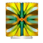Abstract Yellowtree Symmetry Shower Curtain