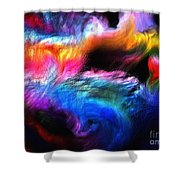 Abstractc1 Shower Curtain