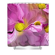 Abstracted Pink Shower Curtain