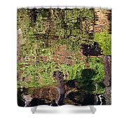 Abstracted Reflection Shower Curtain