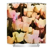 Abstracted Tulips Shower Curtain