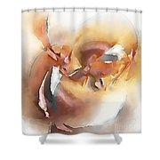 Abstraction 0123 - Marucii Shower Curtain