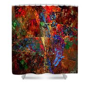 Abstraction 0393 Marucii Shower Curtain