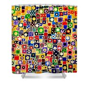 Abstraction 0449 Marucii Shower Curtain