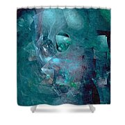Abstraction 0493 Marucii Shower Curtain