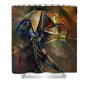 Abstraction 0497 Marucii Shower Curtain