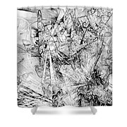 Abstraction 0521 - Marucii Shower Curtain