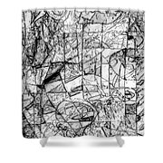 Abstraction 0538 - Marucii Shower Curtain