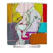 Abstraction 113 Shower Curtain
