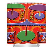 Abstraction 177 Shower Curtain