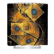 Abstraction 207-03-13  Marucii Shower Curtain