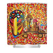Abstraction 445 - Marucii Shower Curtain