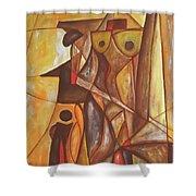 Abstraction 486-10-13 Marucii Shower Curtain