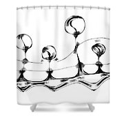 Abstraction 489-10-13 Maruci Shower Curtain