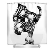 Abstraction 490-10-13 Maruci Shower Curtain