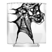 Abstraction 492-10-13 Maruci Shower Curtain