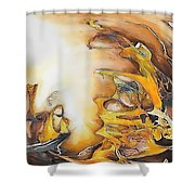 Abstraction 589-11-13 Marucii Shower Curtain