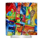 Abstraction 599-14 - Marucii Shower Curtain