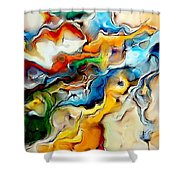 Abstraction 600-11-13 Marucii Shower Curtain