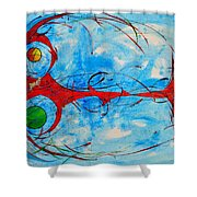 Abstraction 61 Shower Curtain