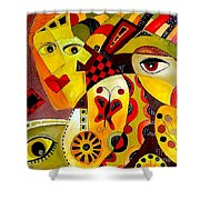 Abstraction 673 - Marucii Shower Curtain