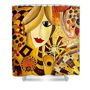 Abstraction 676 - Marucii Shower Curtain