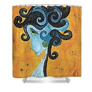 Abstraction 699 -marucii Shower Curtain