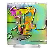 Abstraction 702 -marucii Shower Curtain