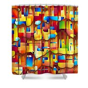 Abstraction 747 - Marucii Shower Curtain