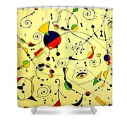 Abstraction 754 - Marucii Shower Curtain