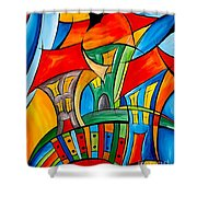 Abstraction 756 - Marucii Shower Curtain