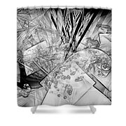 Abstraction B-w 0548 - Marucii Shower Curtain