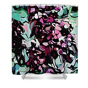 Abstraction Red And Green Shower Curtain