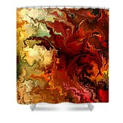 Abstraction Surrealist By Rafi Talby Shower Curtain