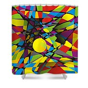 Abstraction V 063 Marucii Shower Curtain