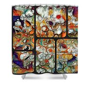 Abstractionnel -29a02 Shower Curtain