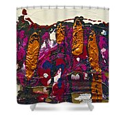 Abstracts 14 - The Deep Dark Woods Shower Curtain