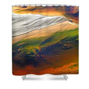 Abstracts Extremophile  Shower Curtain