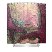 Abstracty Crows Feet Crop Shower Curtain