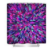 Abstrract Cubes Violet Shower Curtain