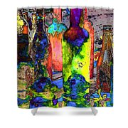 Absynthe Minded Shower Curtain