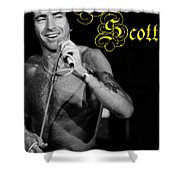 Ac Dc #24 With Text Shower Curtain