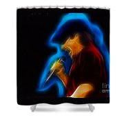 Ac-dc-brian-95-a6-fractal Shower Curtain