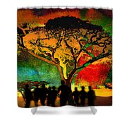 Acacia Twilight Inspiration Shower Curtain