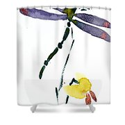 Acacion Dragonfly Shower Curtain