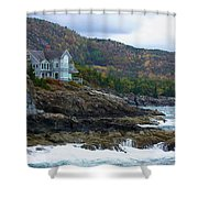Acadia Seaside Mansion Shower Curtain